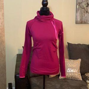 NIKE NWOT Burgundy/Pink DriFit Turtleneck Pullover